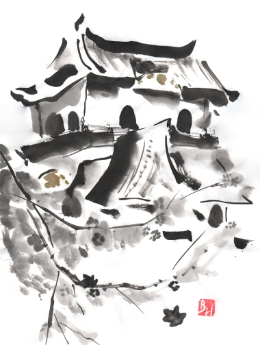 Hikone Castle (for a tattoo)